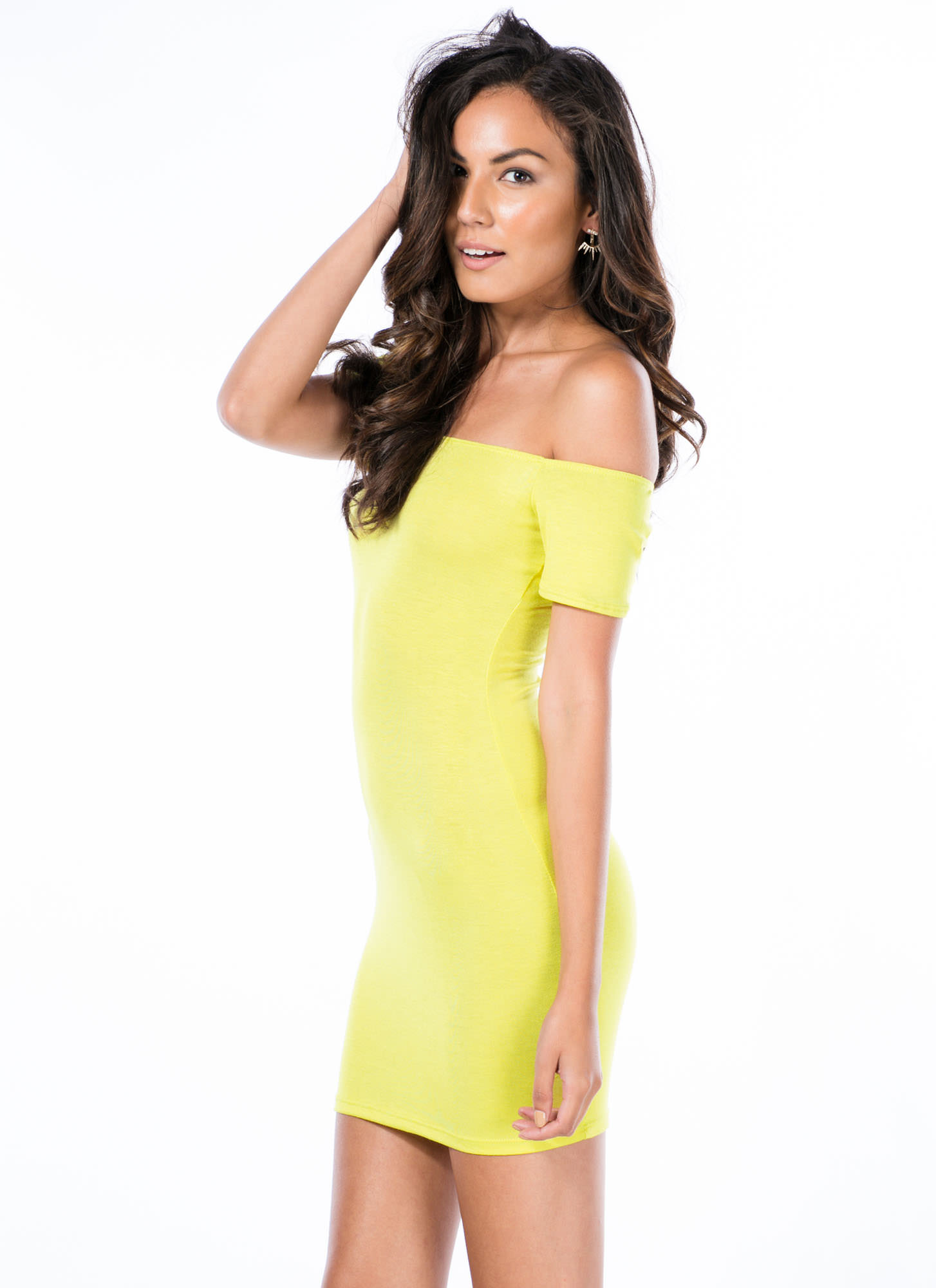 Basic Instincts Off-Shoulder Dress CITRON