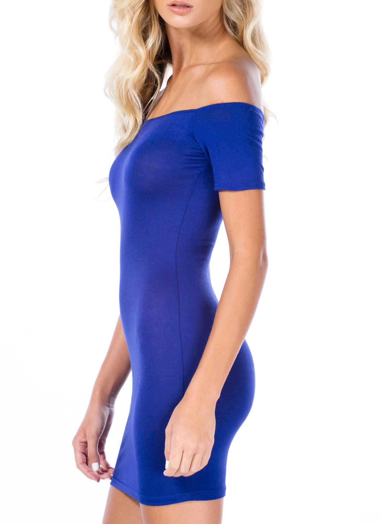 Basic Instincts Off-Shoulder Dress ROYAL
