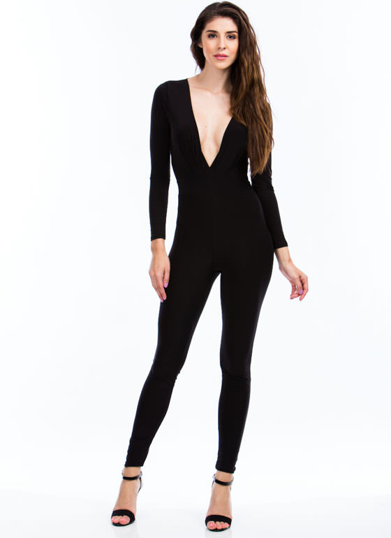 Pleated Perfection Jumpsuit BLACK
