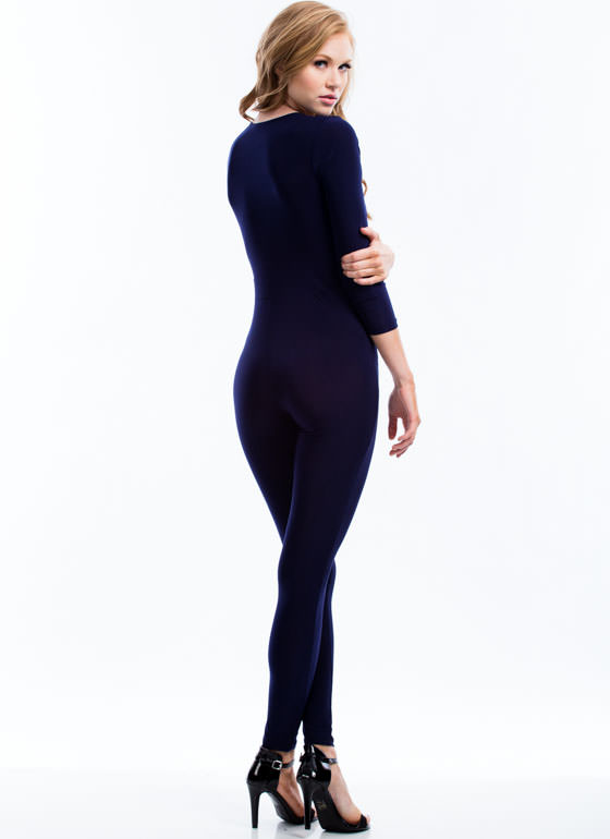 Pleated Perfection Jumpsuit NAVY