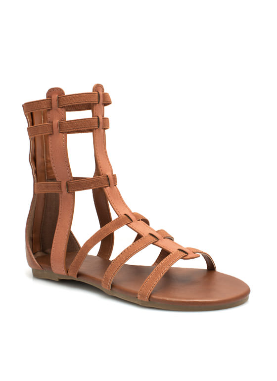 Action Packed Gladiator Sandals CHESTNUT