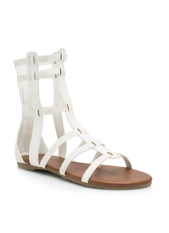 Action Packed Gladiator Sandals WHITE