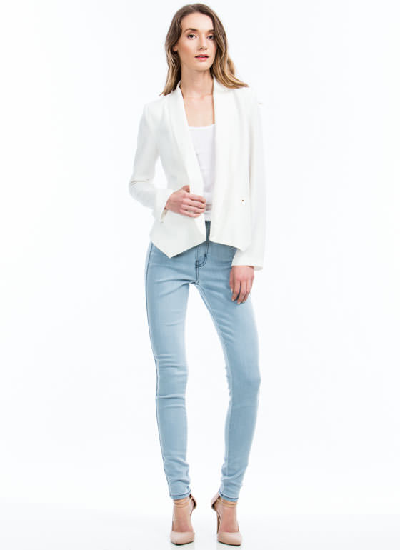 I Dream Of High-Waisted Skinny Jeans LTBLUE