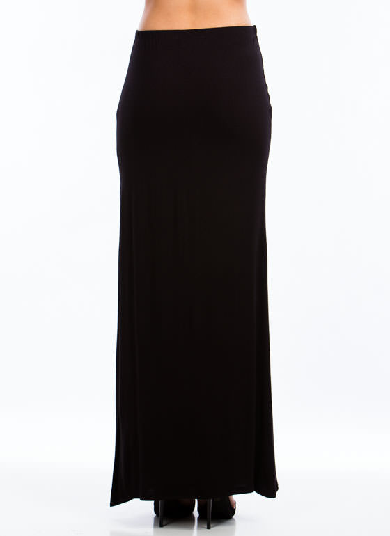 Get Your Slit Together Maxi Skirt BLACK