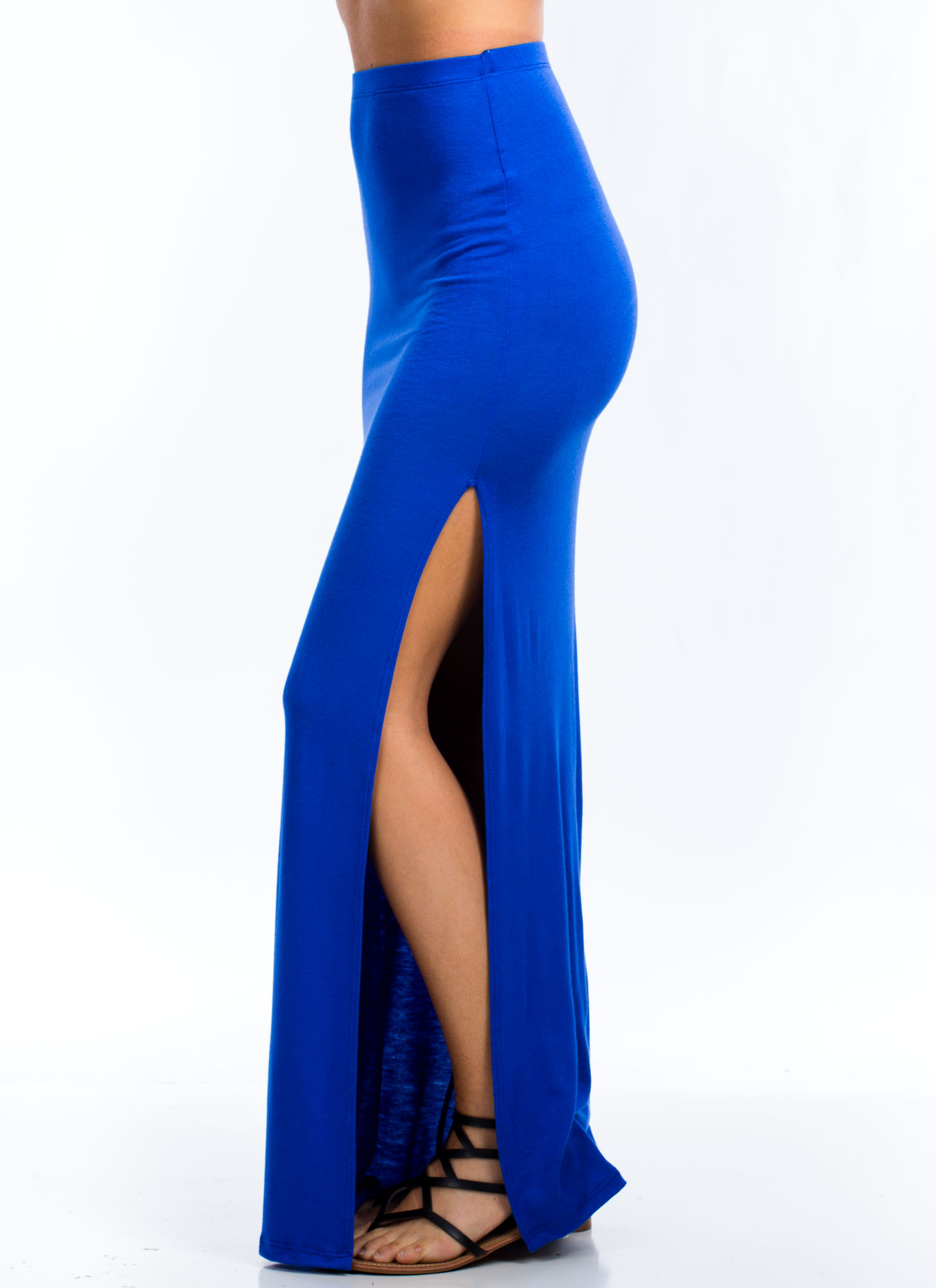 Get Your Slit Together Maxi Skirt ROYAL