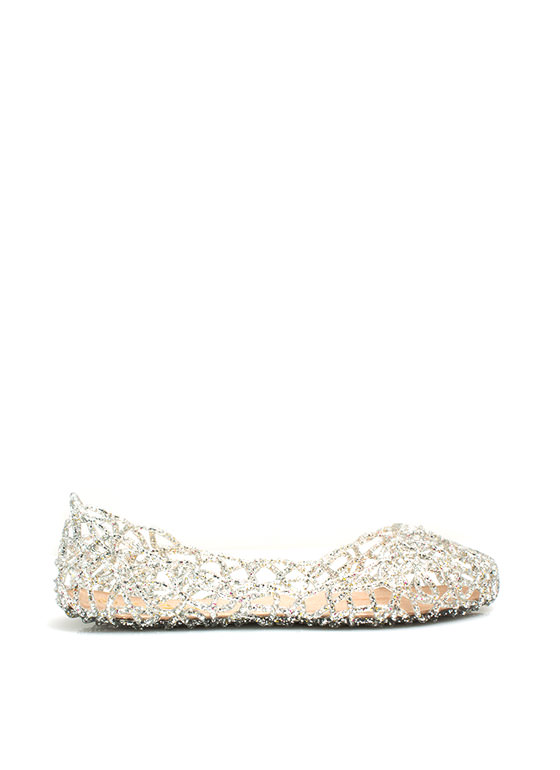 Layered Lines Jelly Ballet Flats CLEAR