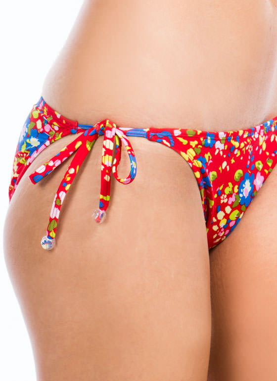 Floral Daze Bikini Bottoms RED