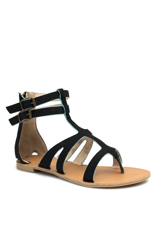 Thrill Seeker Thong Sandals BLACK
