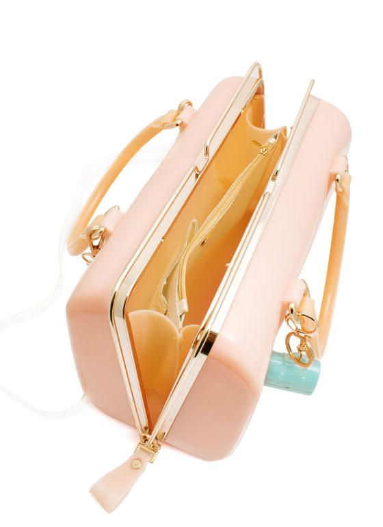 Slide N Lock Jelly Handbag BEIGE