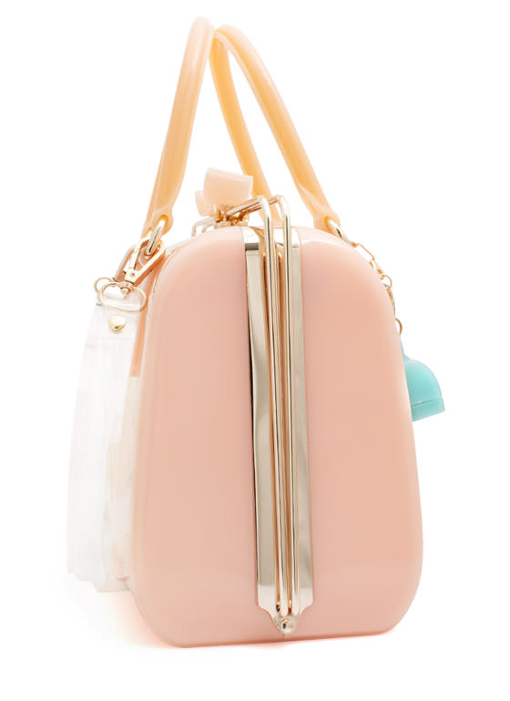 Slide N Lock Jelly Handbag PINK