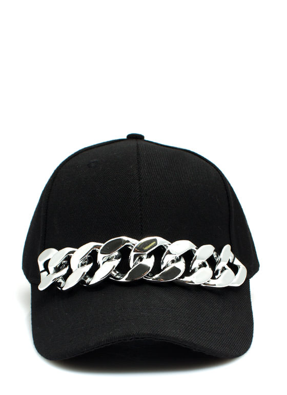 Chunky Chain Link Baseball Cap BLACKSILVER