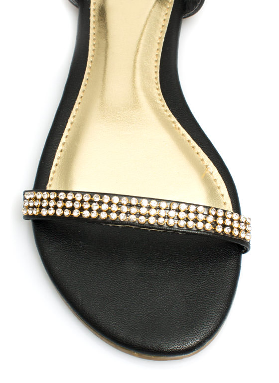 Twinkle Toes Embellished Sandals BLACK