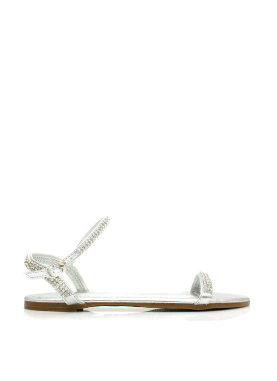 Twinkle Toes Embellished Sandals SILVER