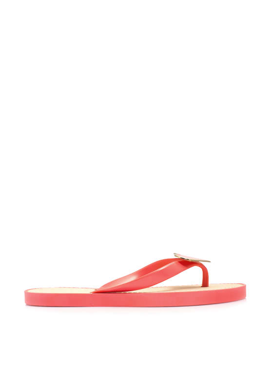 You Have A Big Heart Thong Sandals CORAL