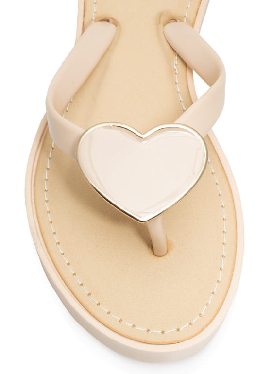 You Have A Big Heart Thong Sandals NUDE