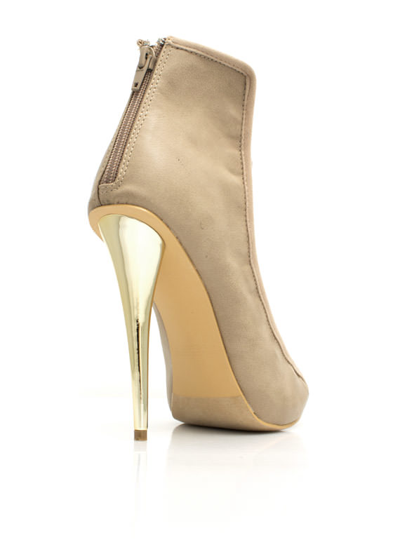 Strap To It Faux Leather Heels TAUPE