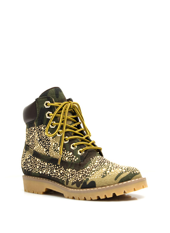 Jewel Miner Camo Hiking Boots CAMO