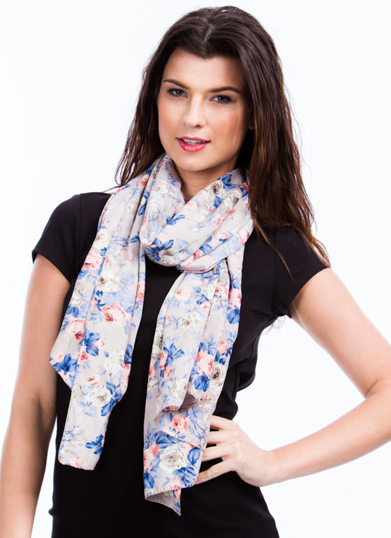 Roses All Over Scarf TAUPEMULTI