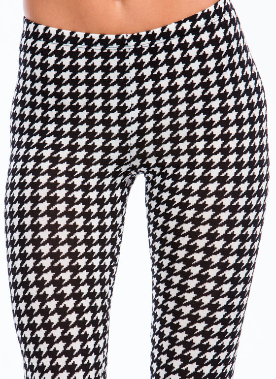 Houndstooth All Over Leggings BLACKWHITE