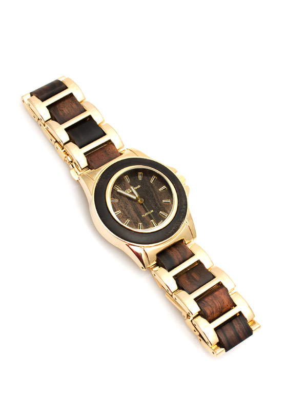 Wood Grain Boyfriend Watch DKWOOD