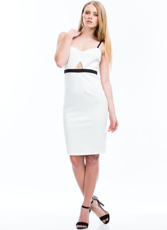 Two-Way Traffic Strappy Cut-Out Dress IVORY