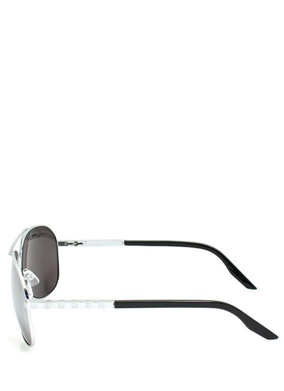 Metallic Coated Aviator Sunglasses SILVER