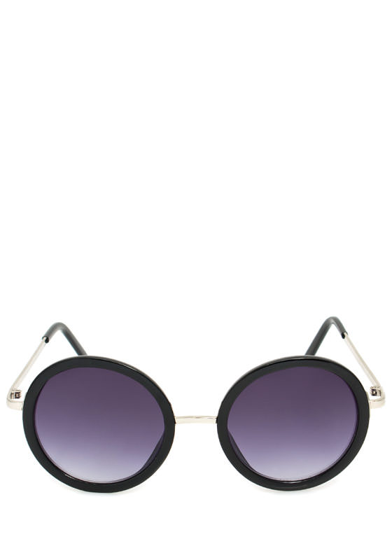 Circle Shaped Sunglasses BLACKSLVR