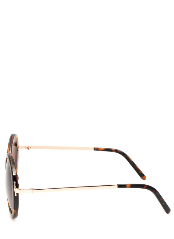 Circle Shaped Sunglasses TORTGOLD