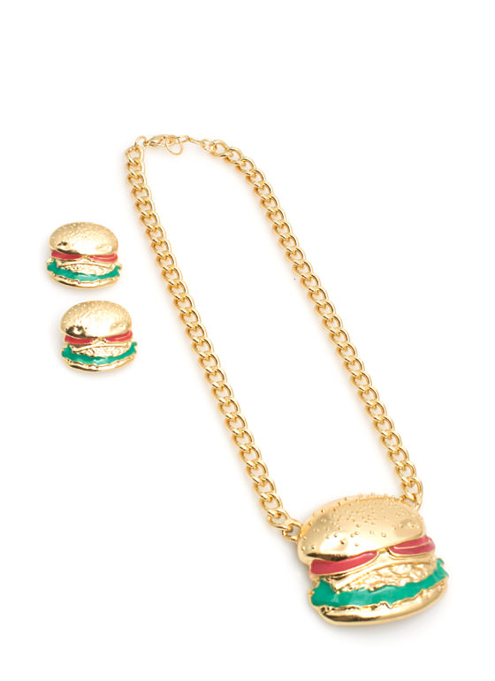 Hamburger Necklace Set GOLDMULTI
