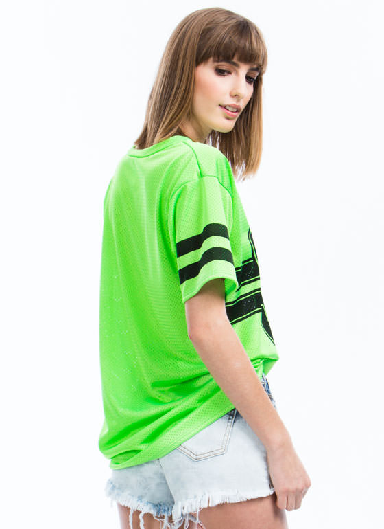 90 Varsity Starter Tunic Top LIME