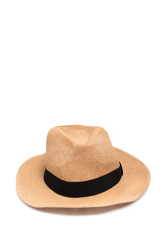 Wide Brim Fedora TAN
