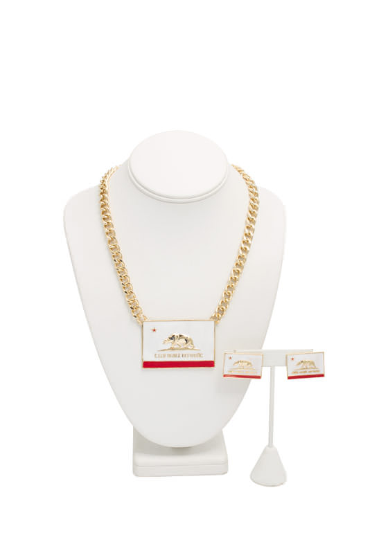 California Flag Necklace Set GOLDMULTI