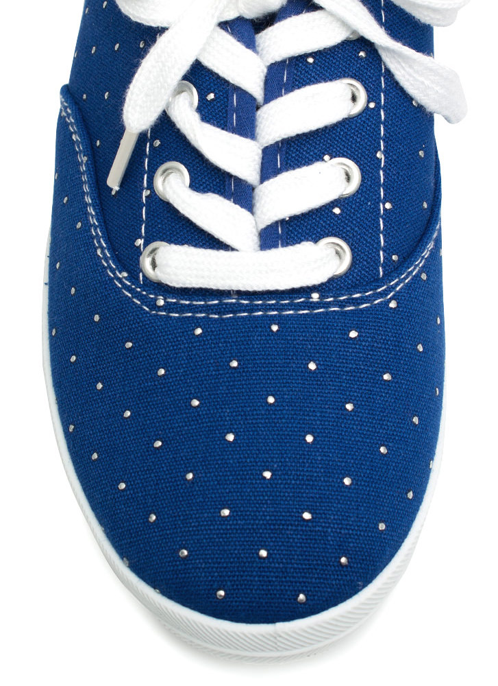 Speckled Dot Canvas Sneakers BLUE
