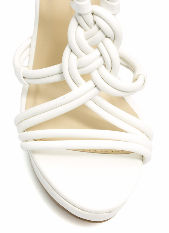 Best In Braided Platform Wedges WHITE