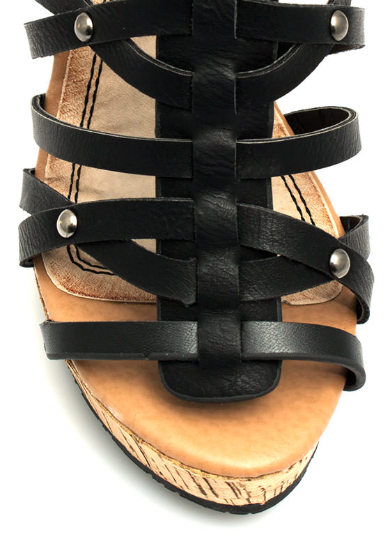 Take 'Em Down Platform Wedges BLACK