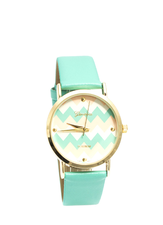 Chevron Stripes Watch MINTMULTI
