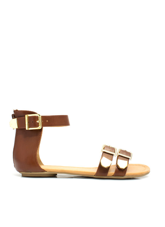 Bare Buckle Brawling Sandals TAN