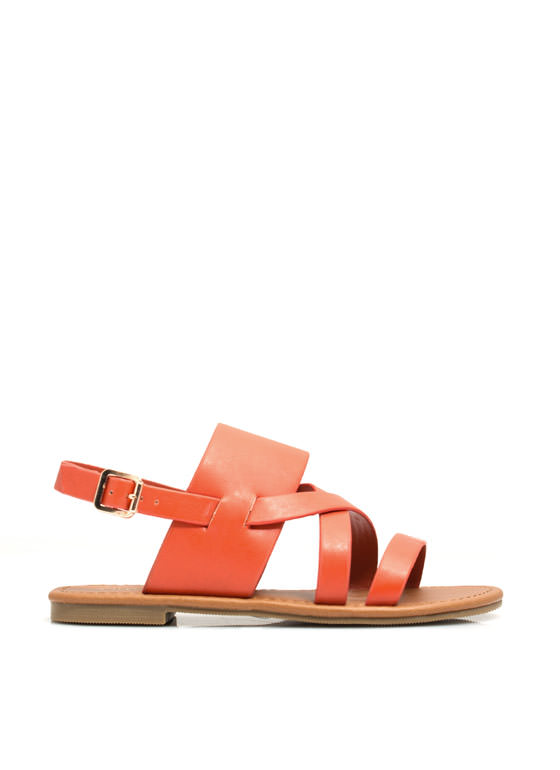 Strapping Out Slingback Sandals DPORANGE
