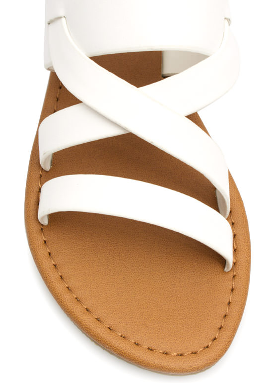 Strapping Out Slingback Sandals WHITE