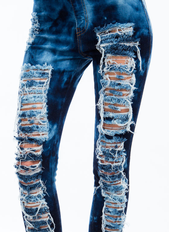 Cloud 9 Destructed Jeans DKBLUE