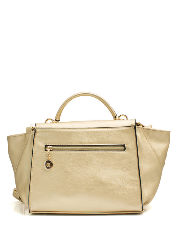 Mini Structured Handbag GOLD