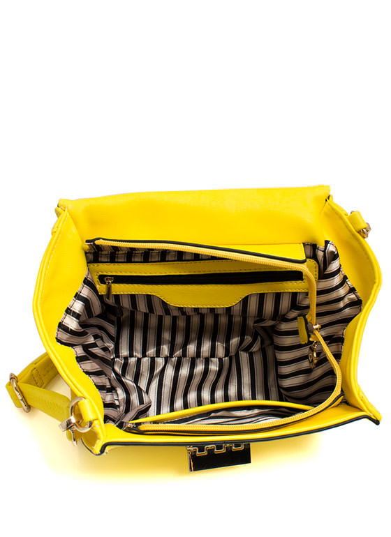 Mini Structured Handbag YELLOW