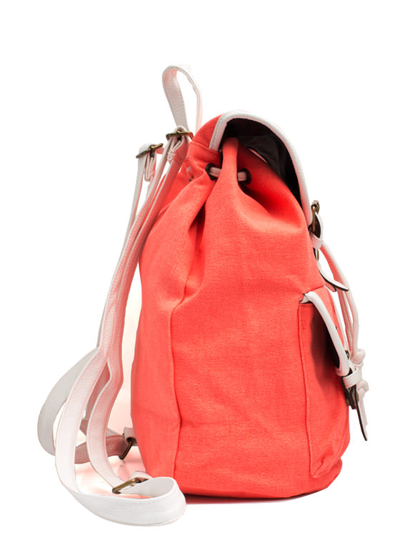Canvas Drawstring Backpack SALMON