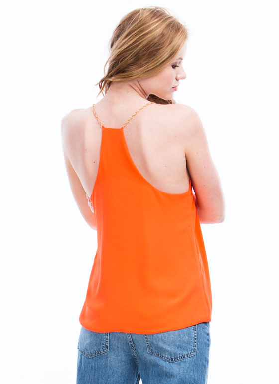 Chain-ge Of Pace Tank ORANGE