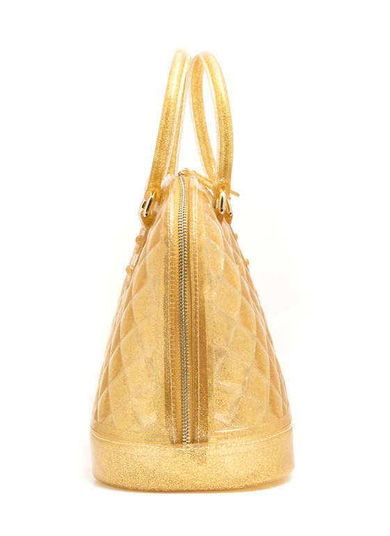 Quilted Jelly Handbag GOLD