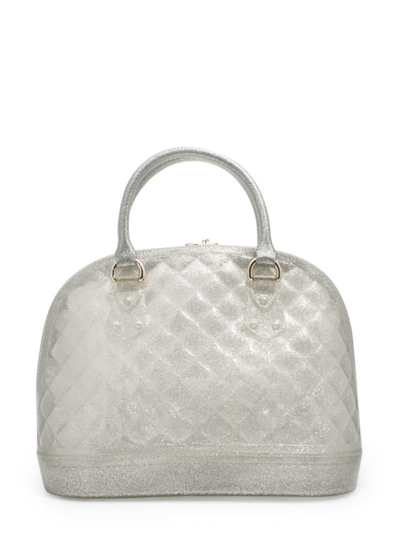 Quilted Jelly Handbag SILVER
