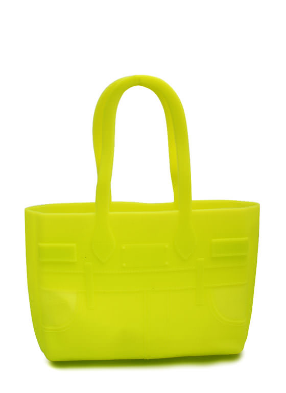 Mini Silicone Totebag NEONYELLOW