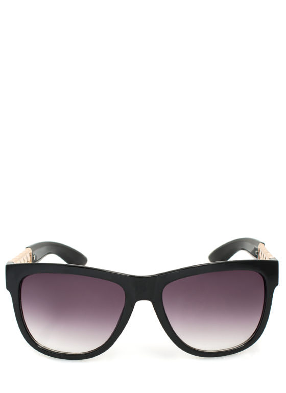 Metallic Chain Sunglasses BLACKGOLD