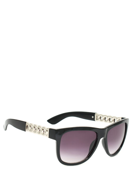Metallic Chain Sunglasses BLACKSLVR