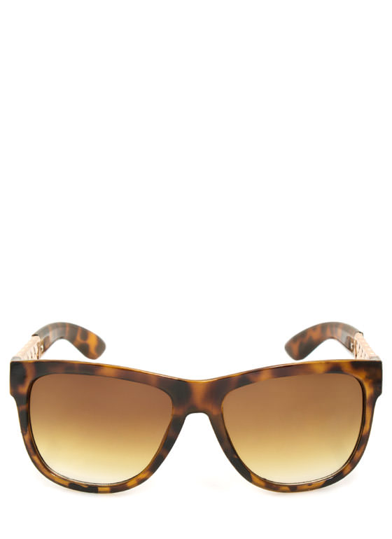 Metallic Chain Sunglasses TORTGOLD